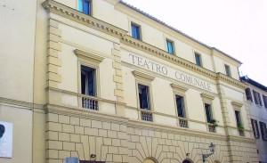 La facciata del Teatro Manini