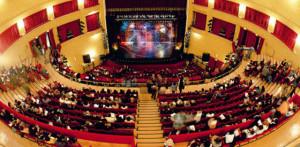 Teatro Augusteo, sede dell'incontro pubblico svoltosi