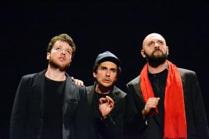 L'ATTORE MANIFESTO - da sx Marcello Manzella, Elvio la Pira, Corrado Drago