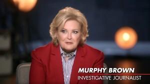 Candice Bergen nel ruolo di Murphy Brown.