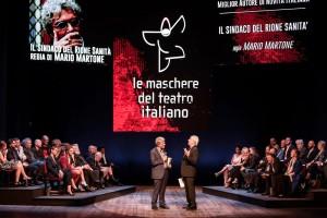 """Mario Martone ritira il premio """"Le Maschere"""". Foto Marco Ghidelli"""
