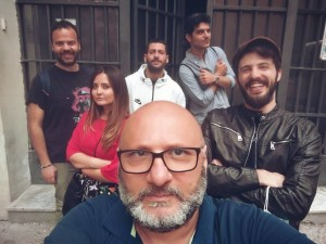 """Mario Gelardi e il cast di """"Lettere d'amore"""""""