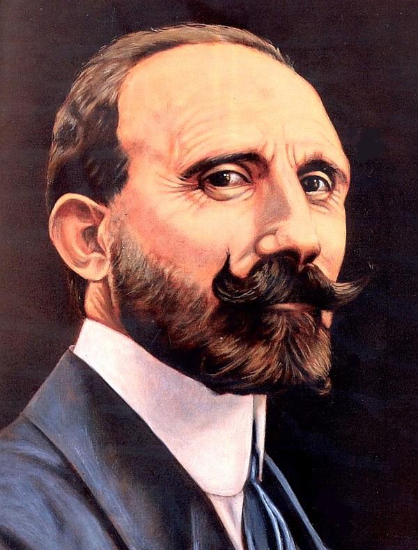 Nino Martoglio in un quadro di Elio Ruffo