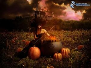 [immagini.4ever.eu] strega, halloween, zucche 162701