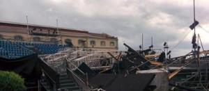 L'arena di Pietrarsa dopo il nubifragio