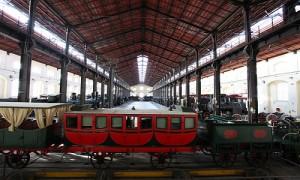La sala dei 500 del museo di Pietrarsa